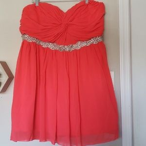 Coral Homecoming/Prom dress (22)